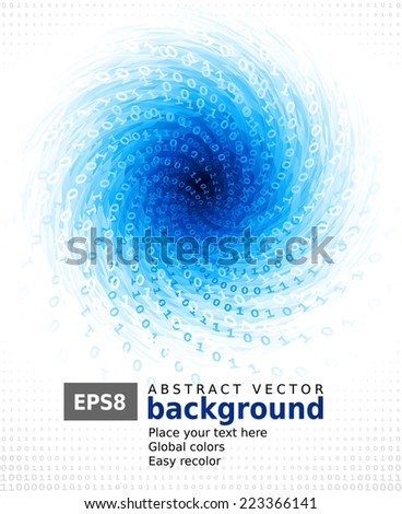 Abstract blue background. Eps8. RGB. Global colors. Gradients used. - stock vector
