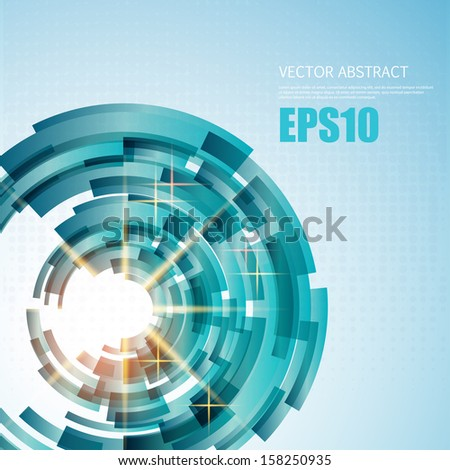 Abstract blue Background for Business Brochure or Cover. EPS10. - stock vector