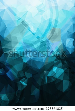 Abstract blue background. Geometric abstract vector background, pastel color. Modern and stylish abstract design poster, cover, card design. Vintage texture, dots pattern and geometric elements - stock vector