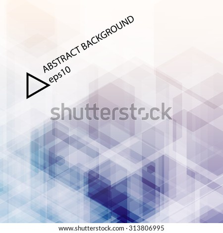 Abstract blue background. Hexagonal pattern structure. Vector image. - stock vector