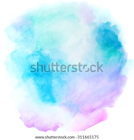 Abstract blue background in watercolor style for vintage design - stock vector