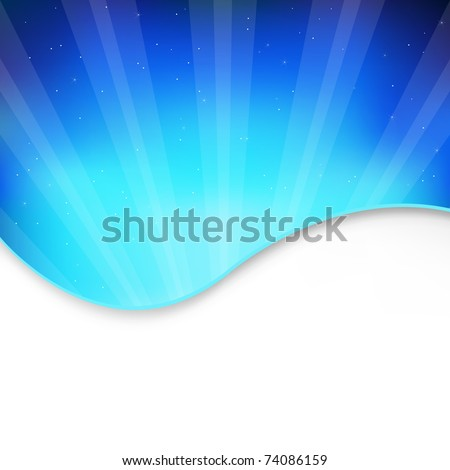 Abstract Blue Background, Vector Illustration - stock vector