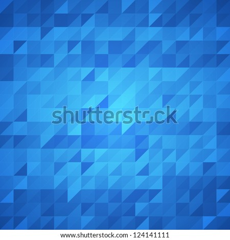 Abstract blue background. Vector image - stock vector