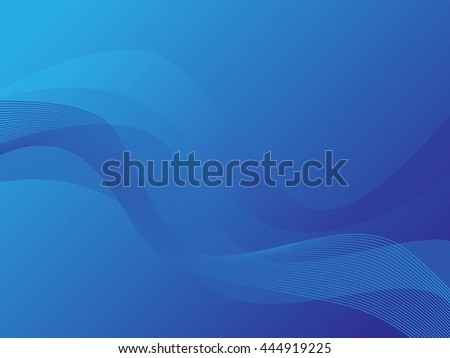 Abstract blue background, wave.