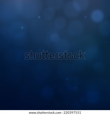 Abstract blue background with blurred bokeh bubbles - stock vector