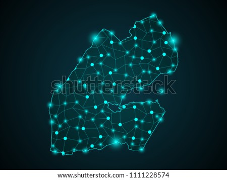 Abstract Blue Background Djibouti Map Internet Stock Vector ...