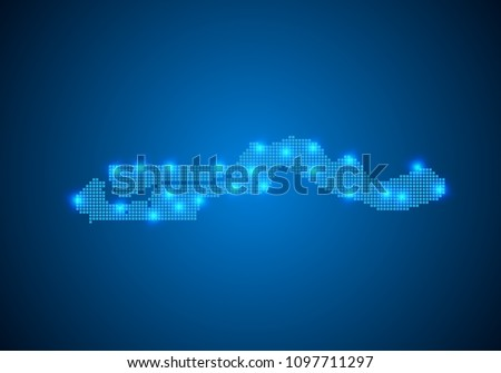 Abstract Blue Background Gambia Map Internet Stock Vector 1097711297 ...