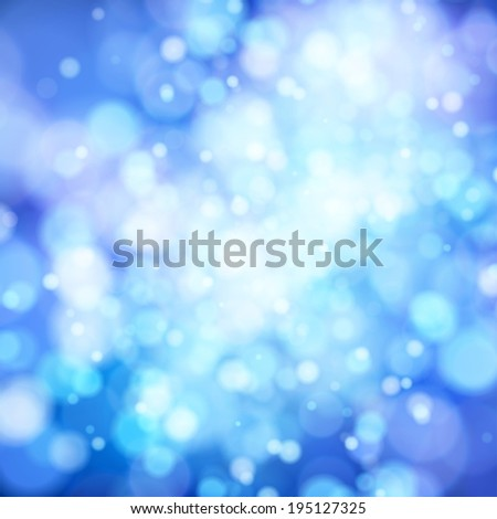 Abstract blue background with glowing elements vector - stock vector