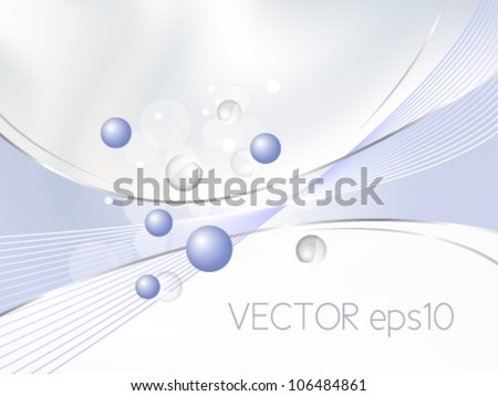 Abstract blue background with gradient to white - medical, chemical, cosmetic and beauty design template - stock vector