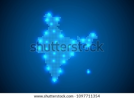 Abstract Blue Background India Map Internet Stock Vector 1097711354 ...