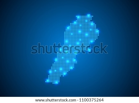 Abstract Blue Background Lebanon Map Internet Stock Vector HD ...