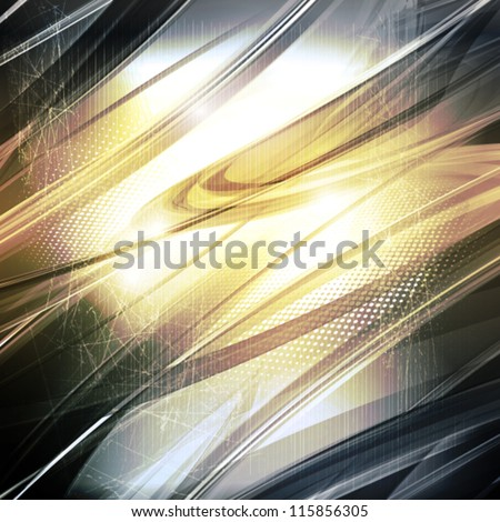Abstract blue background with lighting effect. Vector - stock vector