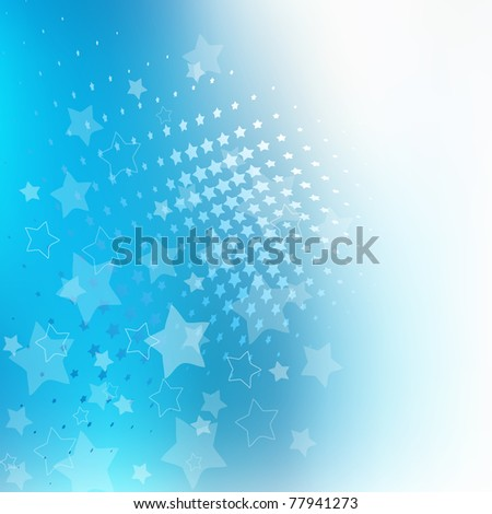 Abstract Blue Background with lots of Stars - stock vector
