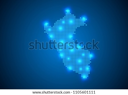 Abstract Blue Background Peru Map Internet Stock Vector 1105601111 ...