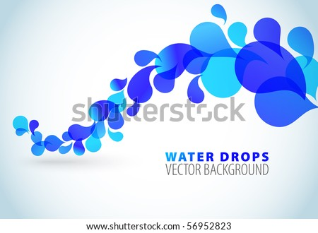 Abstract blue background with place for your text - stock vector