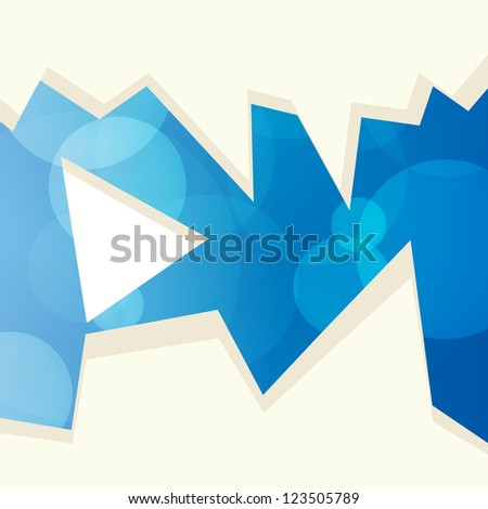 Abstract blue background with rounds and sharp fragments - stock vector