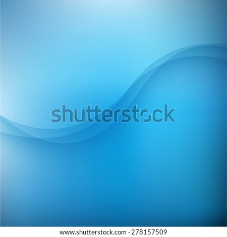 Abstract blue background with wave. Vector illustration. Clip-art - stock vector