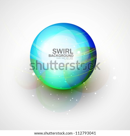 abstract blue bright swirl colorful circle background vector