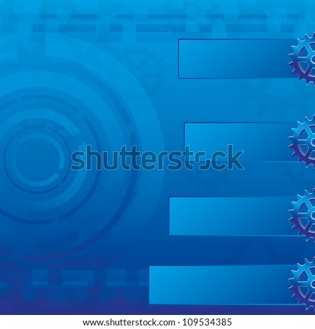 Abstract blue business background card - stock vector