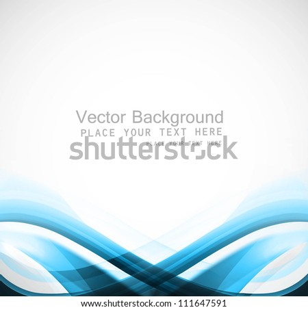 abstract blue business brochure colorful wave vector - stock vector
