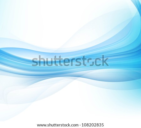 abstract blue business technology colorful wave vector background - stock vector