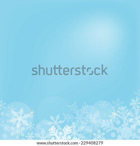Abstract blue christmas background with snowflakes - stock vector