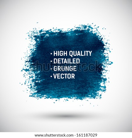 Abstract blue color grunge background - stock vector