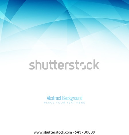 Abstract blue color modern wave background