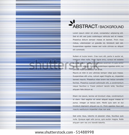 Abstract blue cover template - stock vector