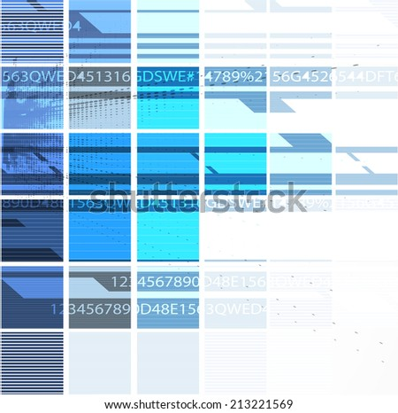 abstract blue cube vector technology background corporate communication interface for business - stock vector