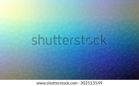 Abstract blue 2D mosaic triangle background for web design - stock vector