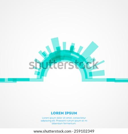 Abstract blue digital columns. Eps 10 - stock vector