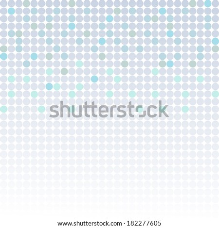 Abstract blue dot background - stock vector