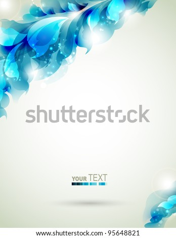 Abstract  blue  element  for design - stock vector