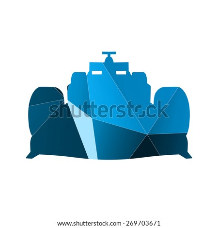 Abstract blue formula car - stock vector