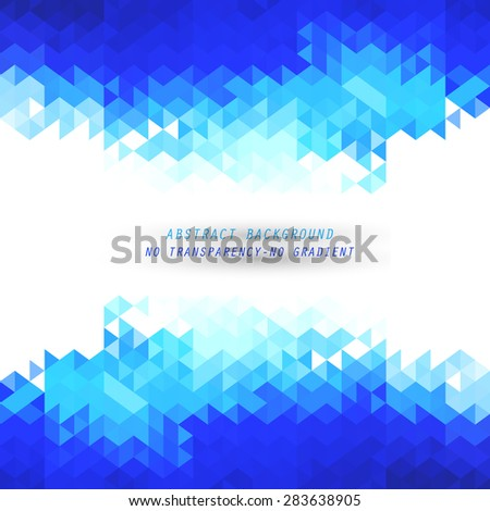 Abstract blue geometric background - stock vector