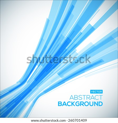 Abstract blue geometric background. 3D perspective background with 3D lines. - stock vector
