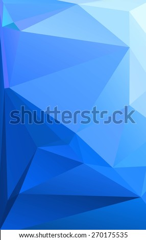 Abstract blue geometric background of triangular polygons. Eps 10. Vector illustration. Polygonal vector design. - stock vector