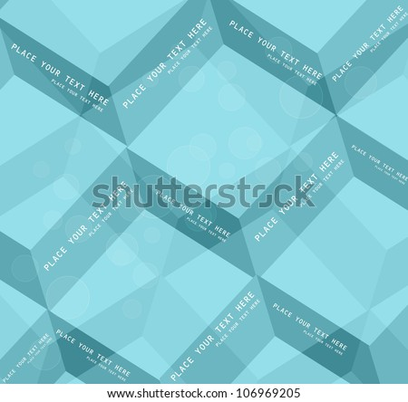 Abstract blue geometric colorful Vector design - stock vector