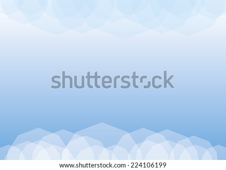 Abstract blue geometric polygonal background with place for copy. EPS10 file with transparency - stock vector