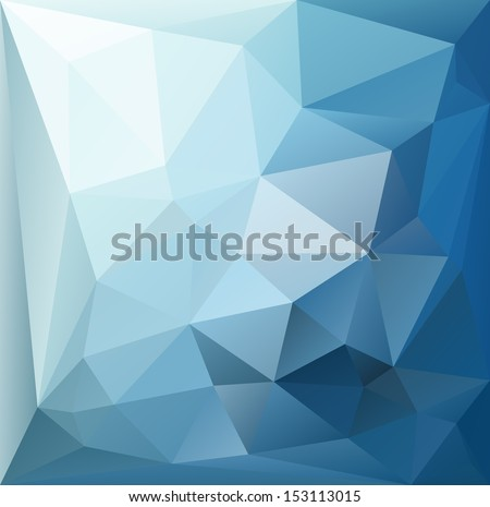 Abstract blue graphic art - stock vector