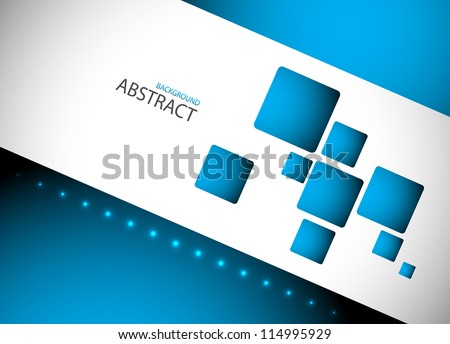 Abstract blue hi-tech background. Clip-art - stock vector