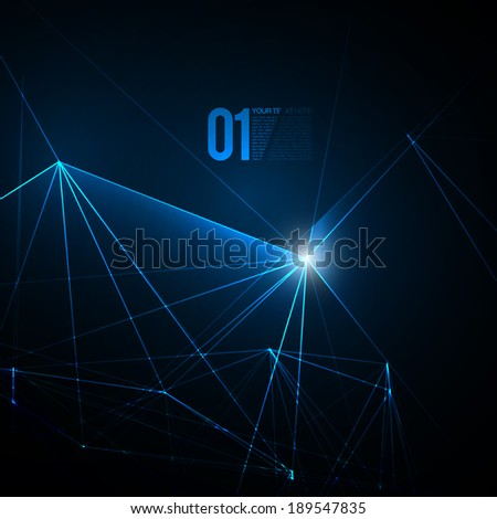 Abstract Blue Laser Light | EPS10 Vector Background - stock vector