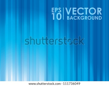 Abstract blue lights vector background template - stock vector