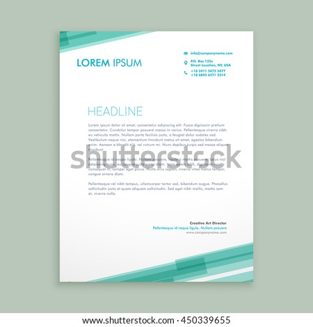 Letterhead template stock images royalty free images vectors abstract blue lines letterhead template pronofoot35fo Images
