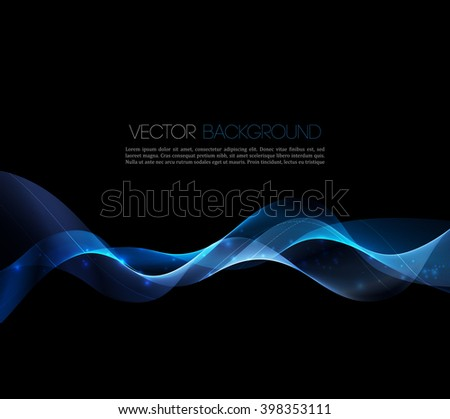 Abstract blue luxury wave layout background. Vector illustration