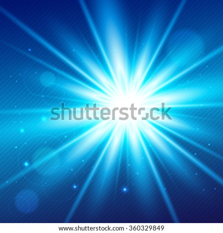 Abstract blue magic light background for your design - stock vector