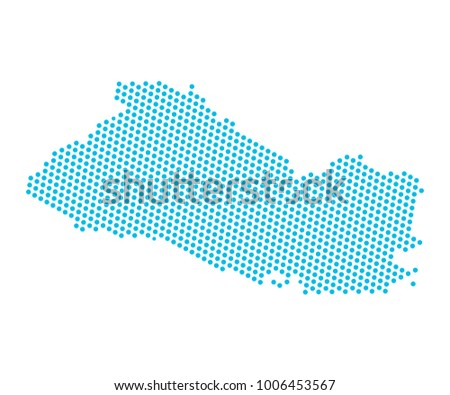 Abstract blue map el salvador dots stock vector 2018 1006453567 abstract blue map of el salvador dots planet lines global world map halftone gumiabroncs Image collections