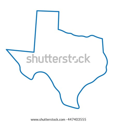 abstract blue map of Texas