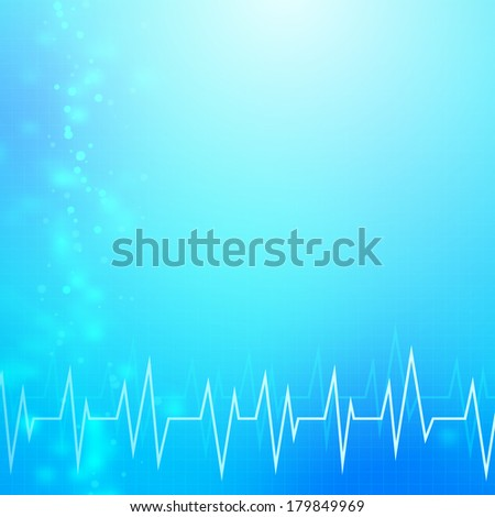 Abstract blue medical technology vector background. layered. - stock vector